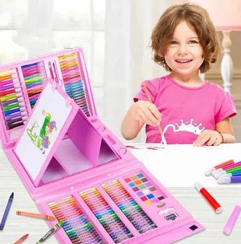 Набор для рисования с мольбертом Drawing Board 208 предметов