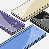 Комплект скло на дисплей + Дзеркальний розумний Smart чохол-книжка для Huawei Honor 8X / Скла /, фото 2