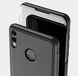 Комплект скло на дисплей + Дзеркальний розумний Smart чохол-книжка для Huawei Honor 8X / Скла /, фото 3