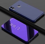 Комплект скло на дисплей + Дзеркальний розумний Smart чохол-книжка для Huawei Honor 8X / Скла /, фото 5