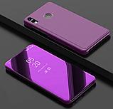 Комплект скло на дисплей + Дзеркальний розумний Smart чохол-книжка для Huawei Honor 8X / Скла /, фото 6