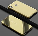 Комплект скло на дисплей + Дзеркальний розумний Smart чохол-книжка для Huawei Honor 8X / Скла /, фото 8