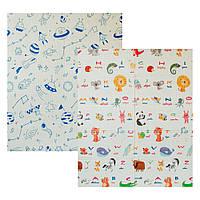 Детский двусторонний складной коврик Poppet - Мир животных и Графический космос 150х180см (PP004-150)