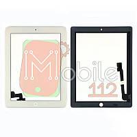 Сенсор (тачскрин) Apple iPad 2 A1395 A1396 A1397 белый оригинал Китай полный комплект с кнопкой Home