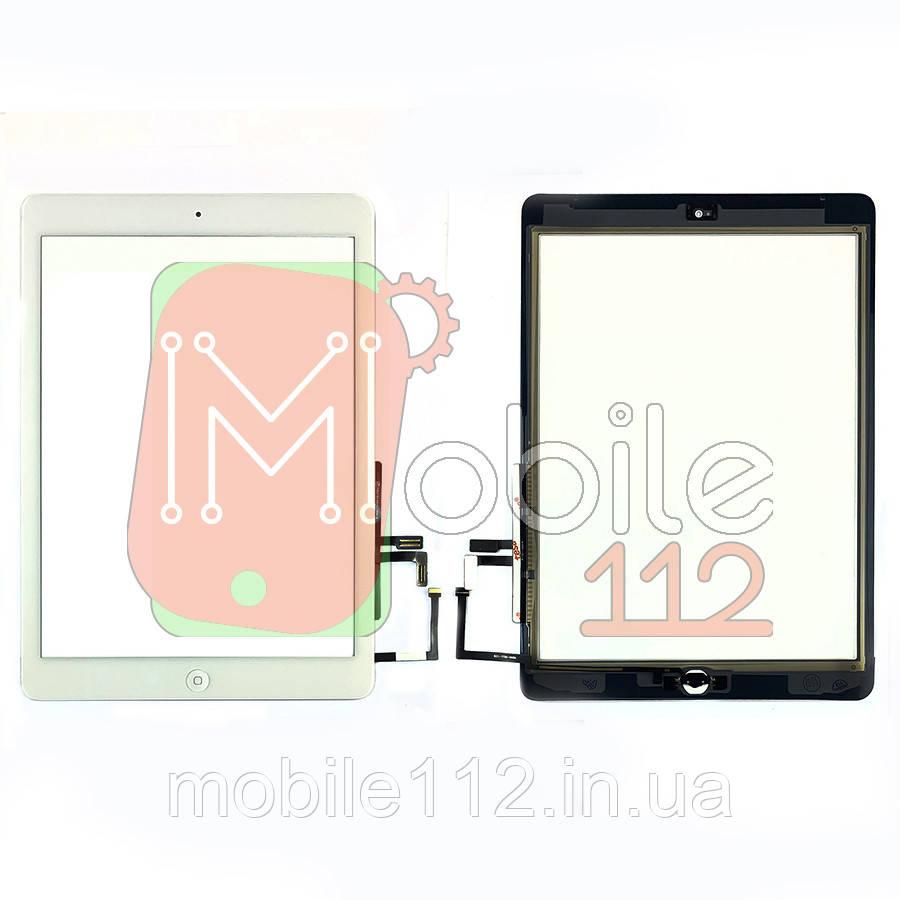 Сенсор (тачскрин) Apple iPad Air A1474 A1475 A1476, iPad 5 9.7 2017 A1822 A1823 белый копия высокого качества полный комплект с кнопкой Home