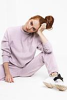 Лиловый женский трикотажный костюм, размер XS, S, M