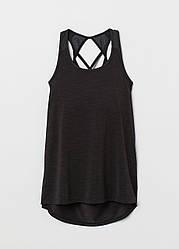 Майка-топ вшитый H&M для тренировок S черный (0754274)