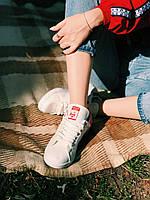 Кроссовки белые с красным задником Adidas Stan Smith Red, фото 1