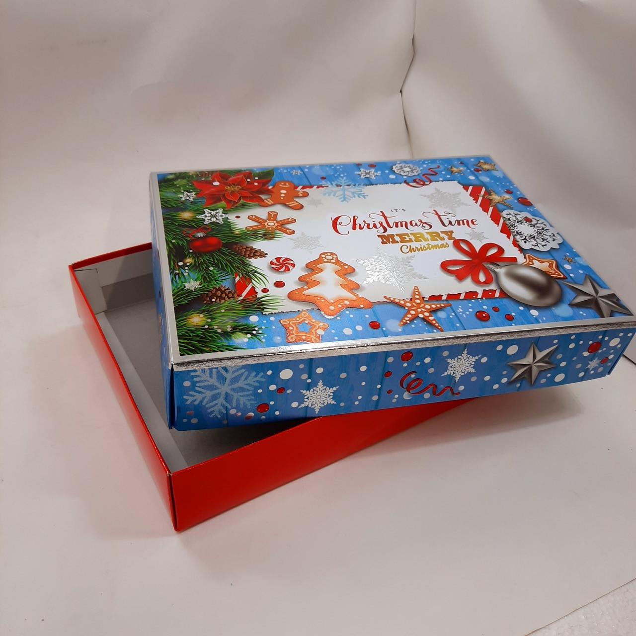 Подарункова картонна коробка з кришкою 800 грам