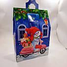 Новогодняя подарочная картонная упаковка для конфет 700 грамм Снеговик, фото 4