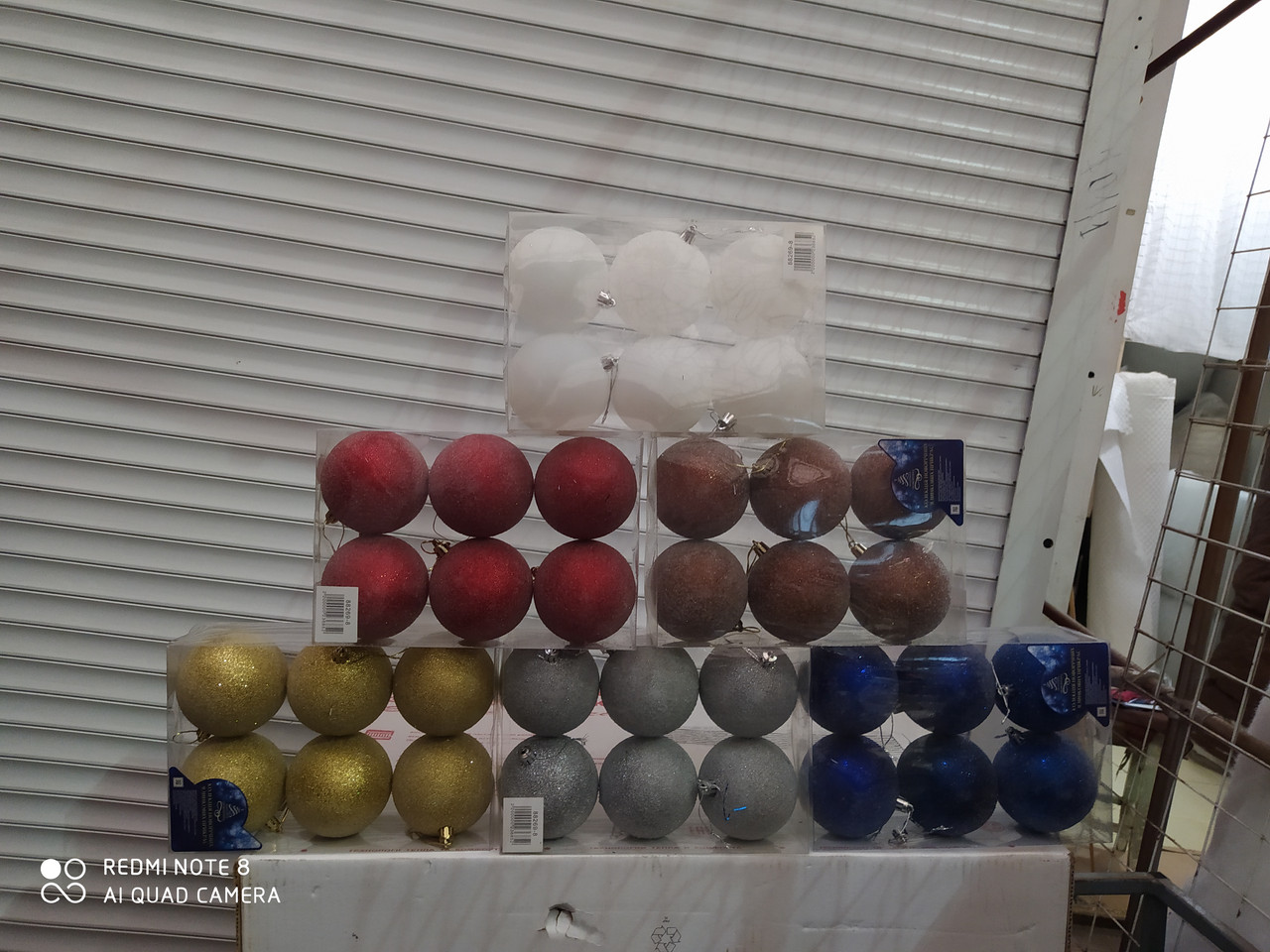 Елочные шары 6 штук диаметр 8 см