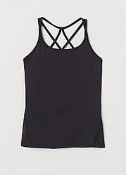 Майка-топ спортивная H&M для тренировок XS черный (928597717)