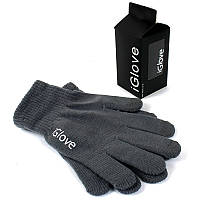 Рукавички iGlove для сенсорних екранів сірі