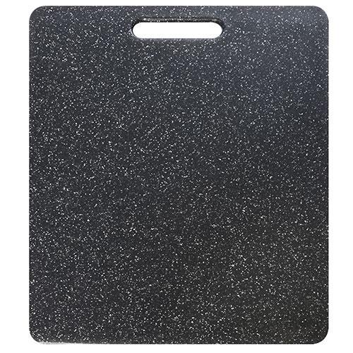"Доска разделочная пластик ""Мрамор"" черная 27.5*36.5см"