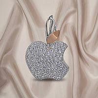 """Красивий жіночий кулон з срібла 925 проби з золотими пластинами 375 проби """"Яблуко"""", фото 1"""