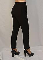 Женские зимние брюки с начесом в больших размерах  Лосины женские с карманами - батал 2XL-3XL Черный, фото 2