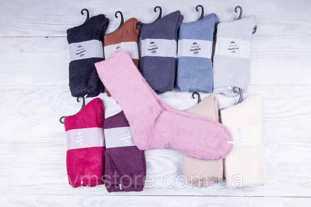 Термо носки женские, кашемир 10 пар в упаковке, разные цвета
