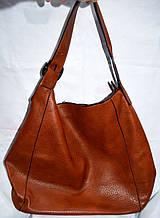 Женская рыжая сумка-торба на плечо из искусственной кожи 38*36 см