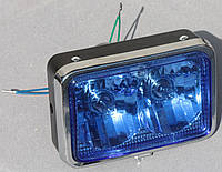 Фара  МТ  ИЖ квадратная двойная синие стекло