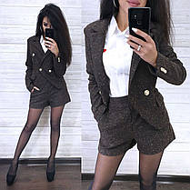 Костюм пиджак букле на подкладке и шорты, фото 3