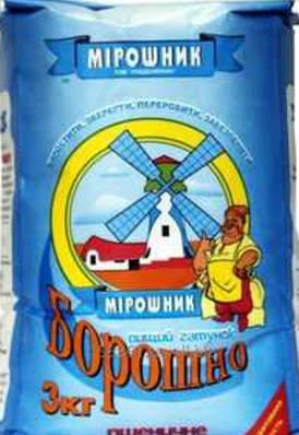 Мука пшеничная ТМ Мирошник  3кг