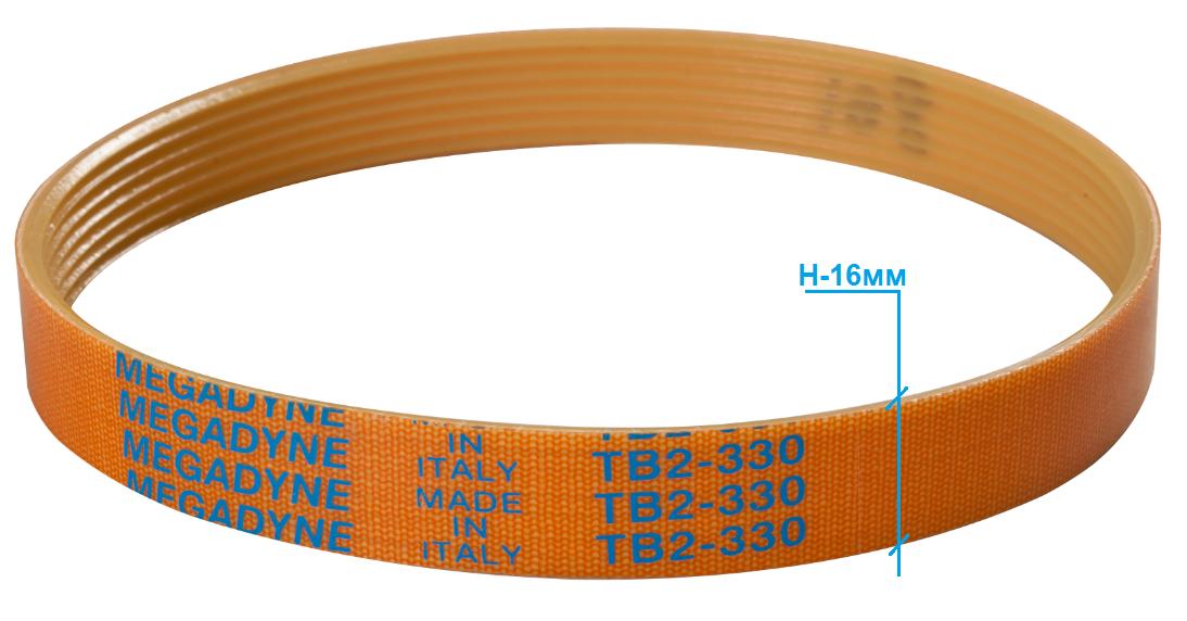 Ремень слайсера TB2-330 / H-16 мм / 7 ручьев (универсальный)
