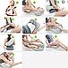 Массажёр роликовый для всего тела с подогревом Shiatsu Massager of Neck Kneading 4 кнопки, фото 9