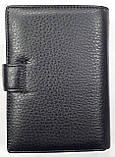 Мужской черный кошелек Philip Plein из натуральной кожи с документами 10*14 см, фото 5