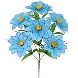 Искусственные цветы букет хризантема, 58см(10 шт в уп), фото 2