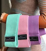 Набор тканевых фитнес резинок Luting(ленточных эспандеров) 3 штуки набор