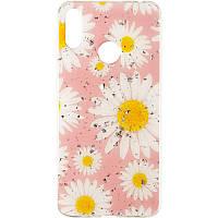 Чехол силиконовый Deep Shine Flowers для Xiaomi Redmi 8a Chamomile