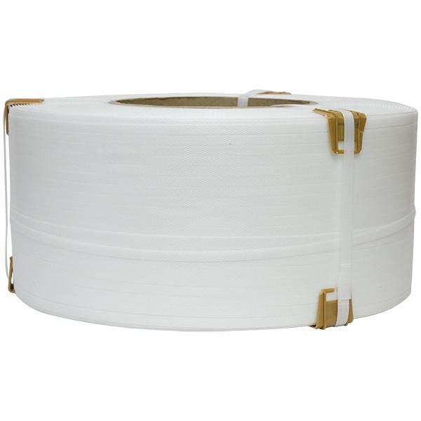 Лента упаковочная полипропиленовая 16х0,8х1,5км (белая)