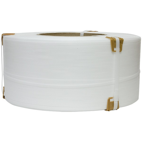 Упаковочная лента полипропиленовая 9 × 0,55 мм - 4 км белая