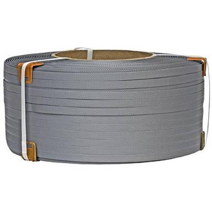 Лента упаковочная полипропиленовая 19 мм х 0.9 мм х 1000 м ( серая ), фото 2