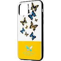 Чехол накладка Butterfly для Huawei Y6s 2019 / Y6 Prime 2019 / Honor 8a Yellow