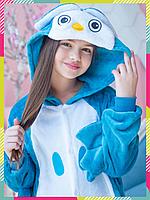 Детская Пижама Кигуруми Сова, кигуруми для детей сова ( на рост 126-135 см )