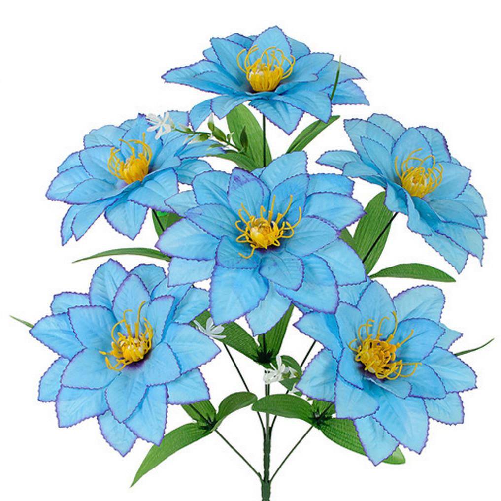 Искусственные цветы букет хризантема, 58см(10 шт в уп)