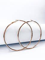Серьги кольца в позолоте диаметр 6,5 см