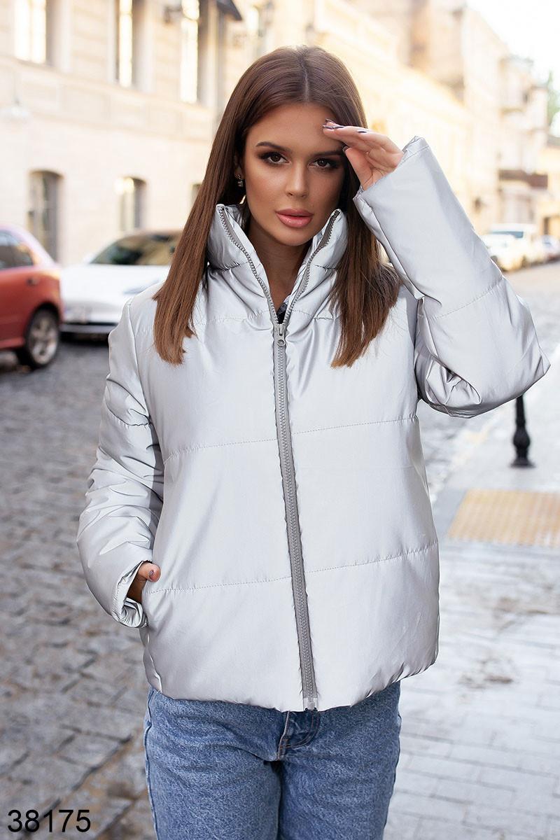 Женская светоотражающая куртка без капюшона р. 42, 44, 46