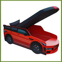 Кровать машина Премиум Land Rover красный с матрасом