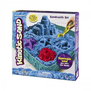 Набір піску для дитячої творчості - Kinetic Sand Замок з Піску (блакитний) 71402B