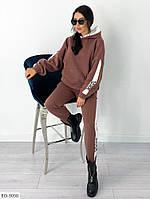 Костюм-двойка спортивний жіночий з трьохнитки на флісі, фото 1