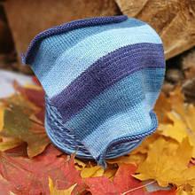 Носочная пряжа разноцветная синяя