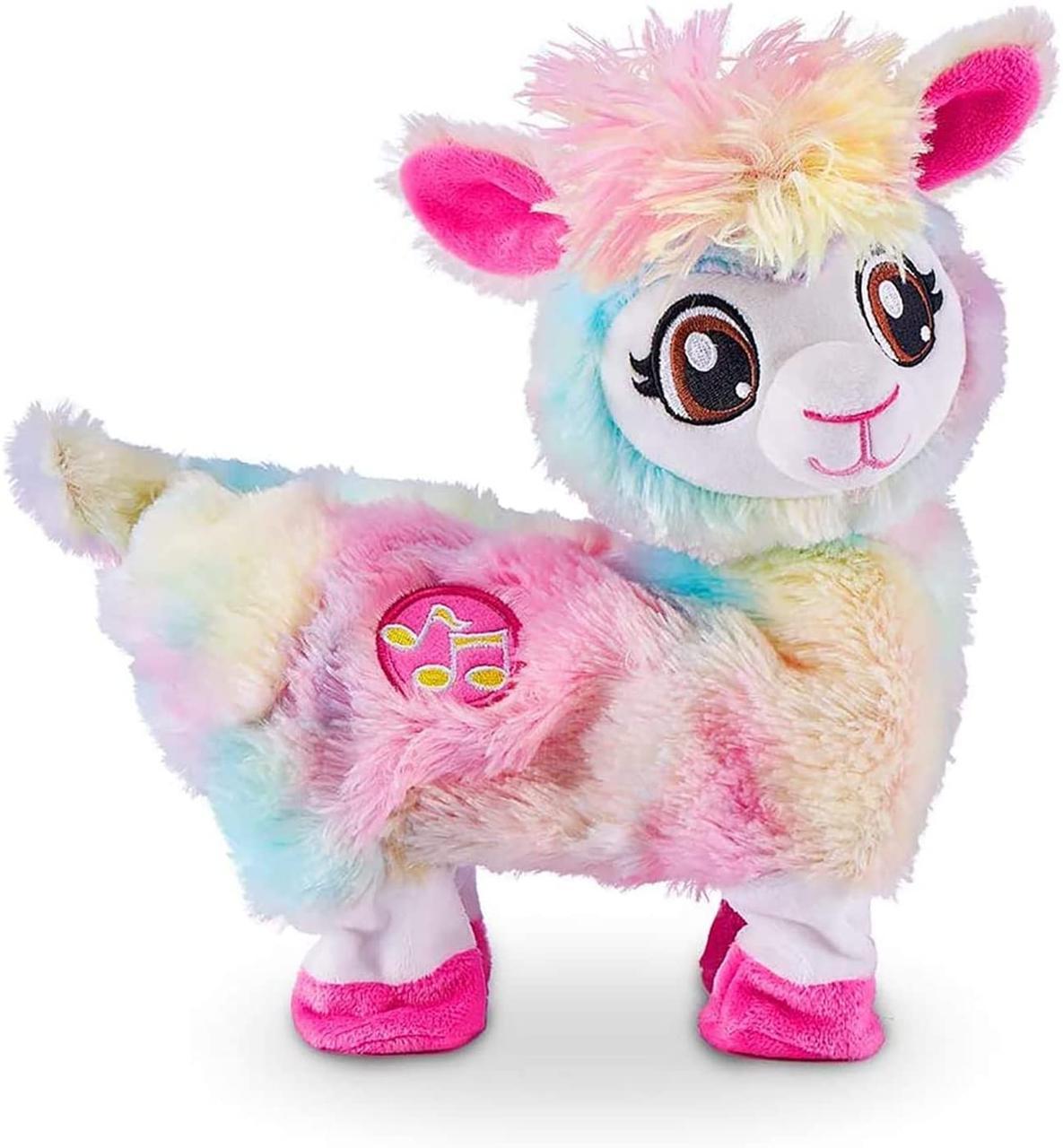 Интерактивная мягкая игрушка Pets & Robo Alive Радужная танцующая лама