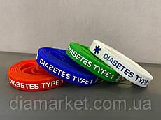 """Браслет силиконовый """"Diabetes type 1"""" - для взрослых"""
