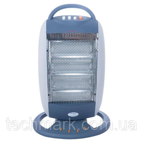 Галогенный электрический обогреватель (инфракрасный тепловентилятор) WimpeX HALOGEN WX-455 1200W