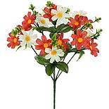 Штучні квіти букет ромашок кольорових, 35см(40 шт в уп), фото 2