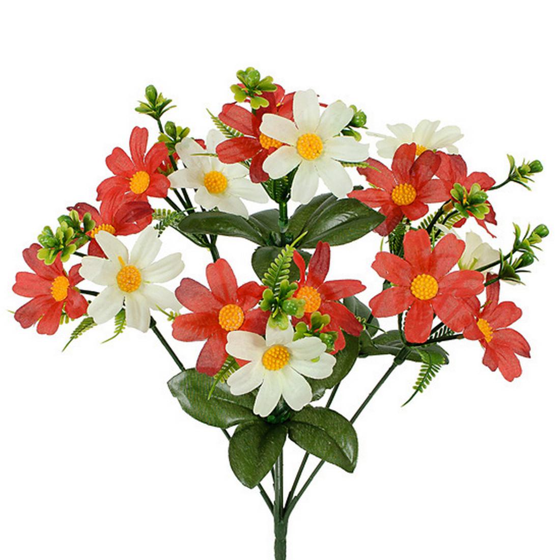 Штучні квіти букет ромашок кольорових, 35см(40 шт в уп)