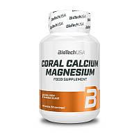 Витамины кальций и магний Biotech Coral Calcium Magnesium 100 таб