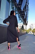 Платье свободного кроя с капюшоном ниже колена, фото 3